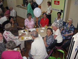 Seniors having meeting