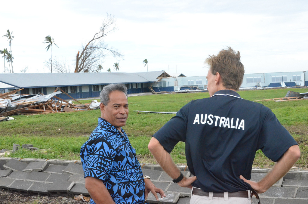 Post natural disaster in Cyclone Evan, Samoa, 2012.