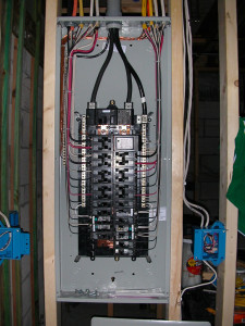 Electrical panel finished