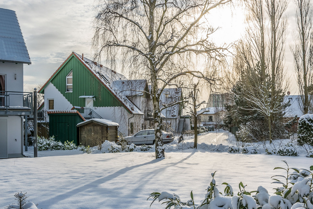 Snowy holiday homes