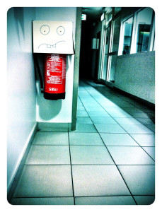 Install fire extinguisher...