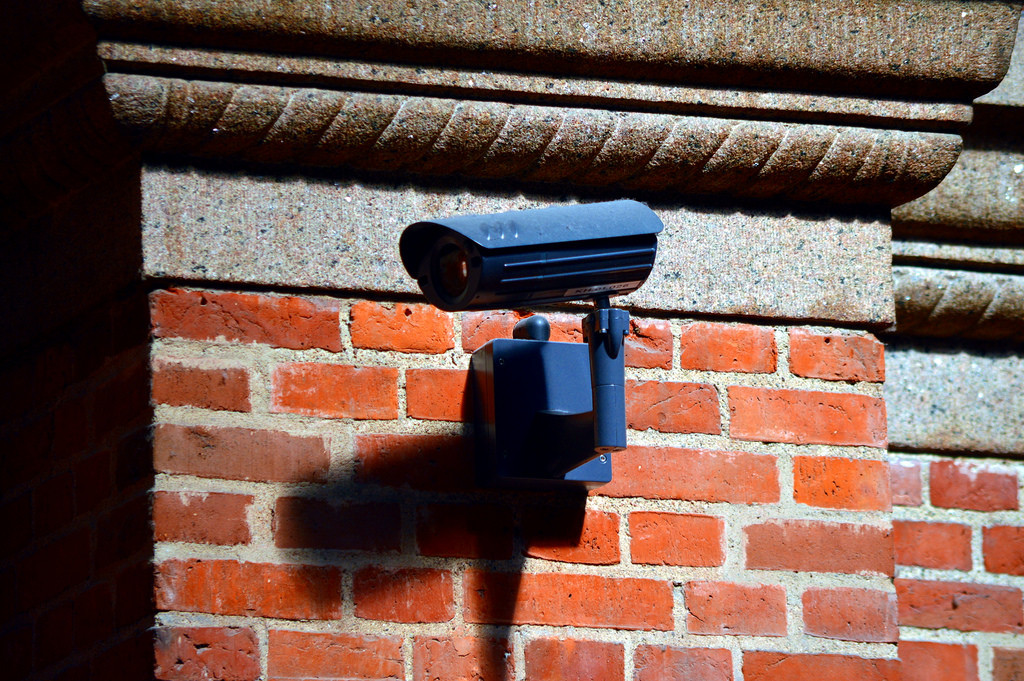 Surveillance camera outside home...