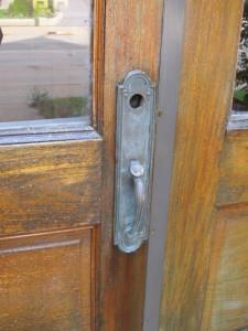 Home's door locked...