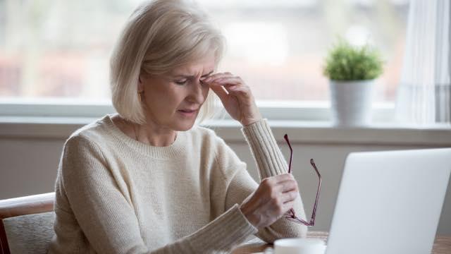 Senior With Eye Problems